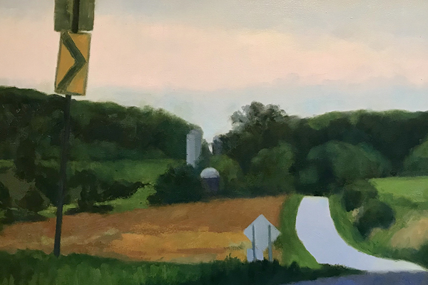 Snake Hill Road, 23 x 36, oil on canvas, 2019